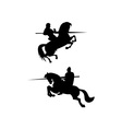 Knight riding silhouette vector
