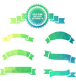 Set of geometric badge and ribbons vector