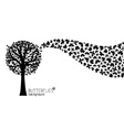 Black and white nature background vector