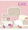 Scrapbook card for baby vector