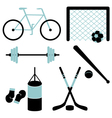 Set of sporting equipment isolated vector