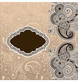 Ornamental template vector