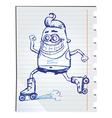 Robot doodle vector