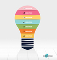 Infographic design template light bulb with vector