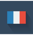 Flat flag of france vector