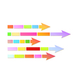 Arrow with divided line vector