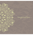 Invitation card with floral ornament vector