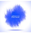 Watercolor blue spot vector