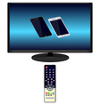 Tv and tv remote phone vector