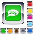 Blog square button vector