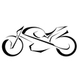 Black silhouette of a bike on a white background vector