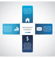 Modern paper infographic vector