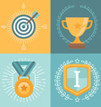 Achievement badges vector