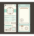 Vintage style boarding pass wedding invitatation vector