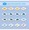 Weather isometric icons vector