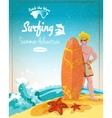 Surfing summer adventure poster vector