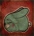 Animal grunge card with funny cartoon rabbit vector