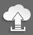 White cloud upload 3d vector
