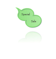 Speak bubble with special sale vector