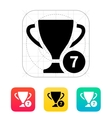 Number of cups icon vector