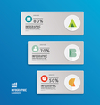 Modern design minimal style infographic template vector