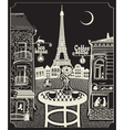 Paris night cafe vector