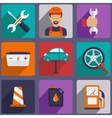 Car repair icons set with mechanic service and vector