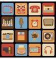 Vintage gadget icons vector