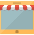 Mobile phone online store concept vector