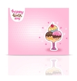Happy birthday card background with ice cream vector
