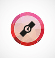 Time circle pink triangle background icon vector