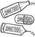 Addiction to drugs vector
