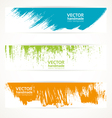Color handmade abstract brush strokes banners vector