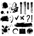 Grayscale blots vector