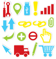 Internet icons wrench vector