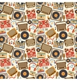 Music retro seamless pattern vector