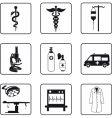 Medical symbols and equipment vector