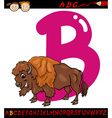 Letter b for bison cartoon vector
