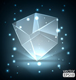 Glowing transparent box vector