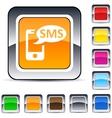 Sms square button vector