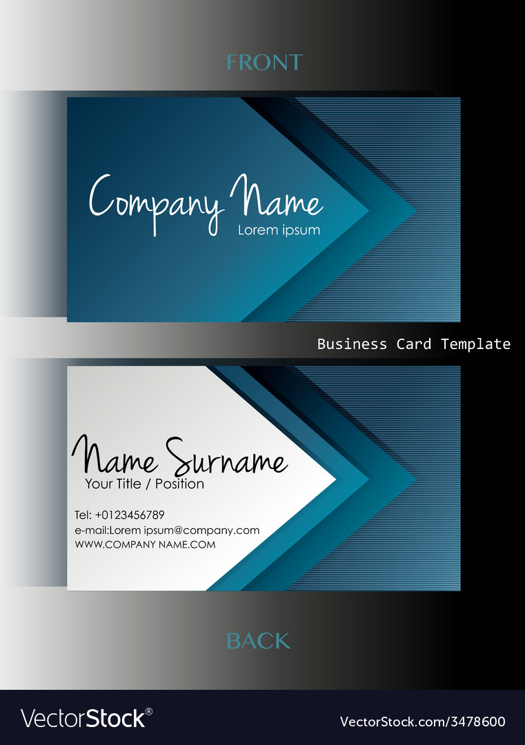 A business card template vector | Price: 1 Credit (USD $1)