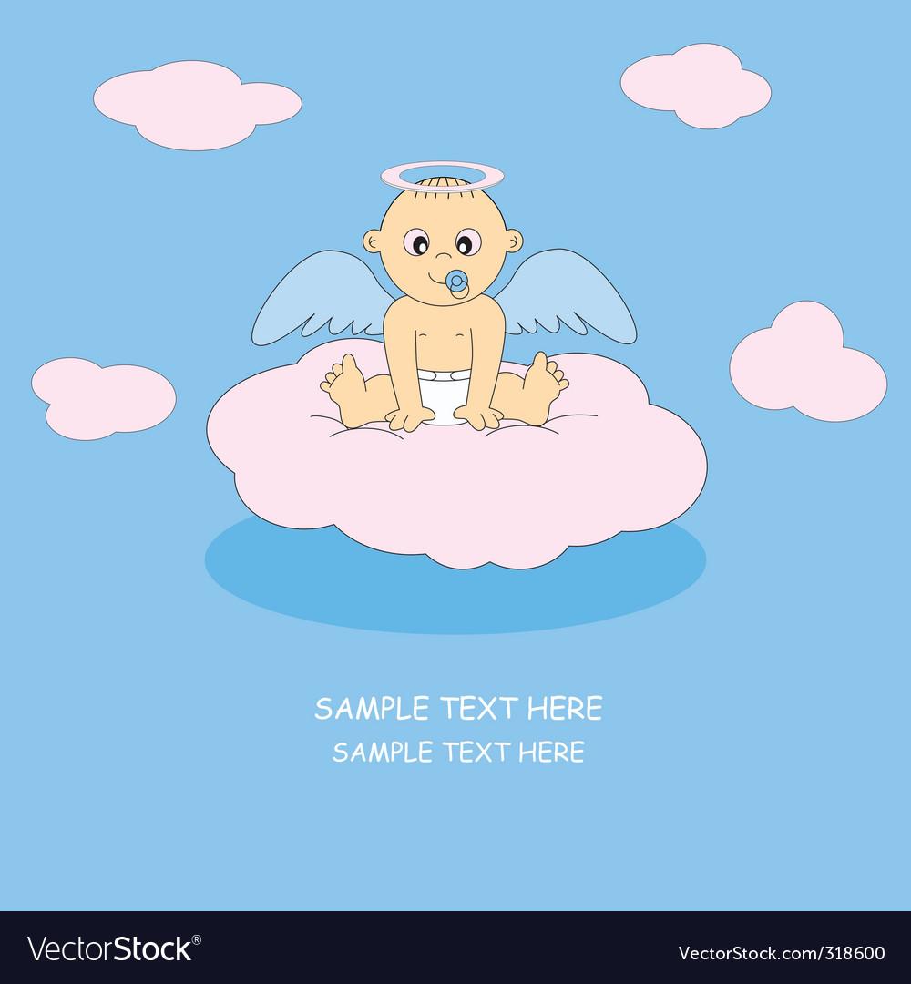 Angel baby boy vector | Price: 1 Credit (USD $1)