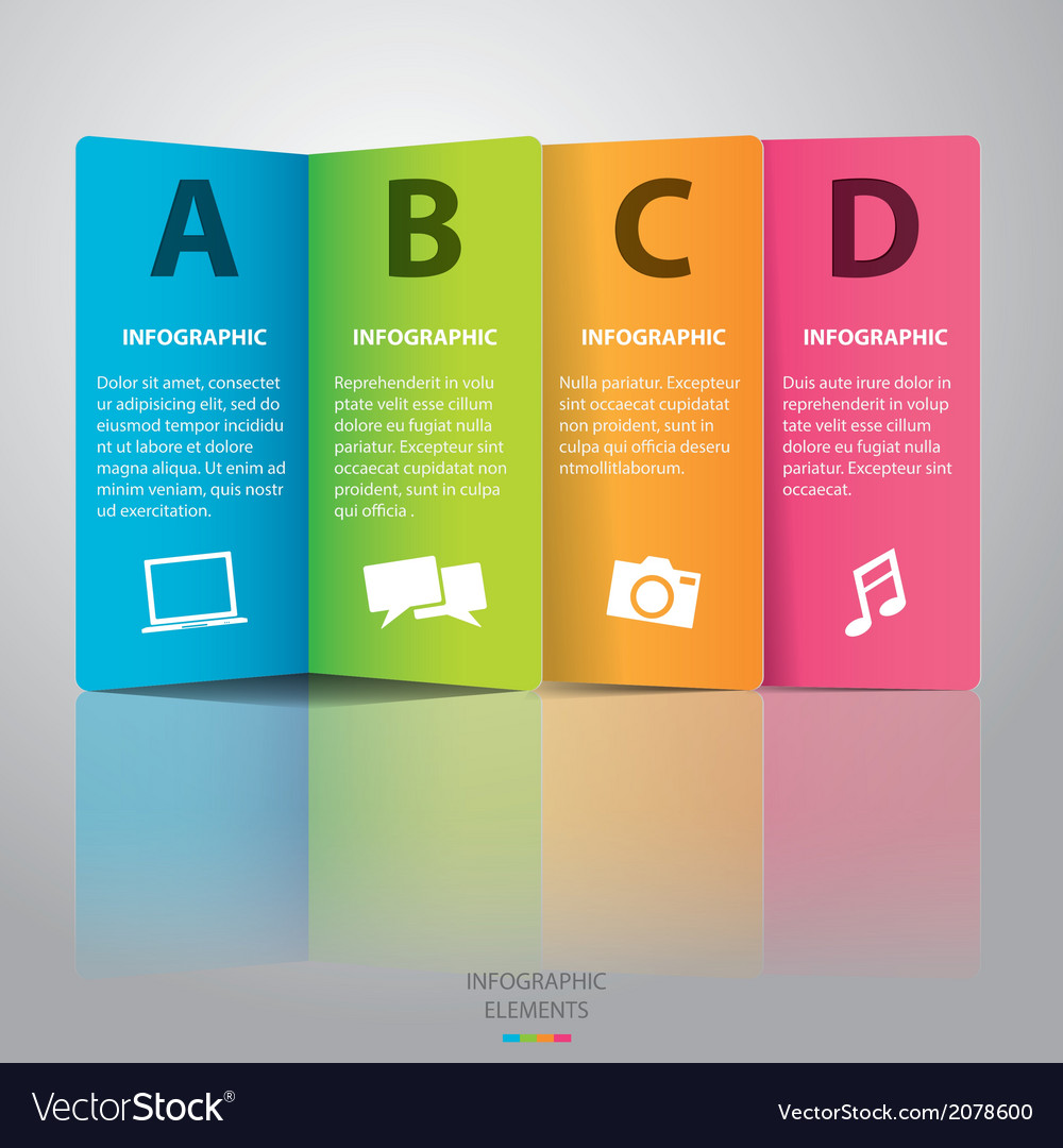 Colorful paper infographic vector | Price: 1 Credit (USD $1)