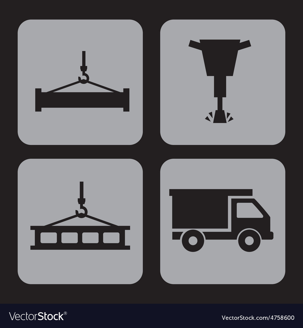 Constructions icons vector | Price: 1 Credit (USD $1)