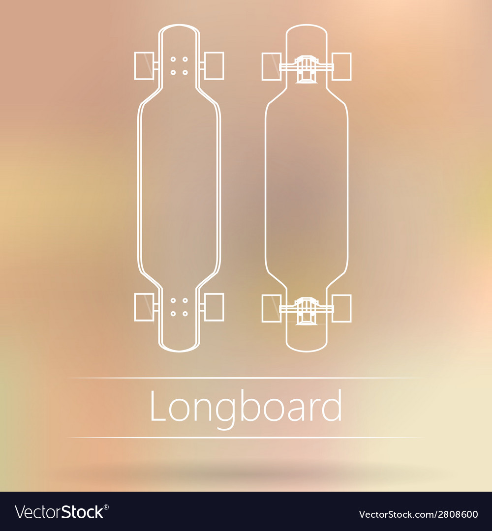 Contour ad layout for longboard vector | Price: 1 Credit (USD $1)