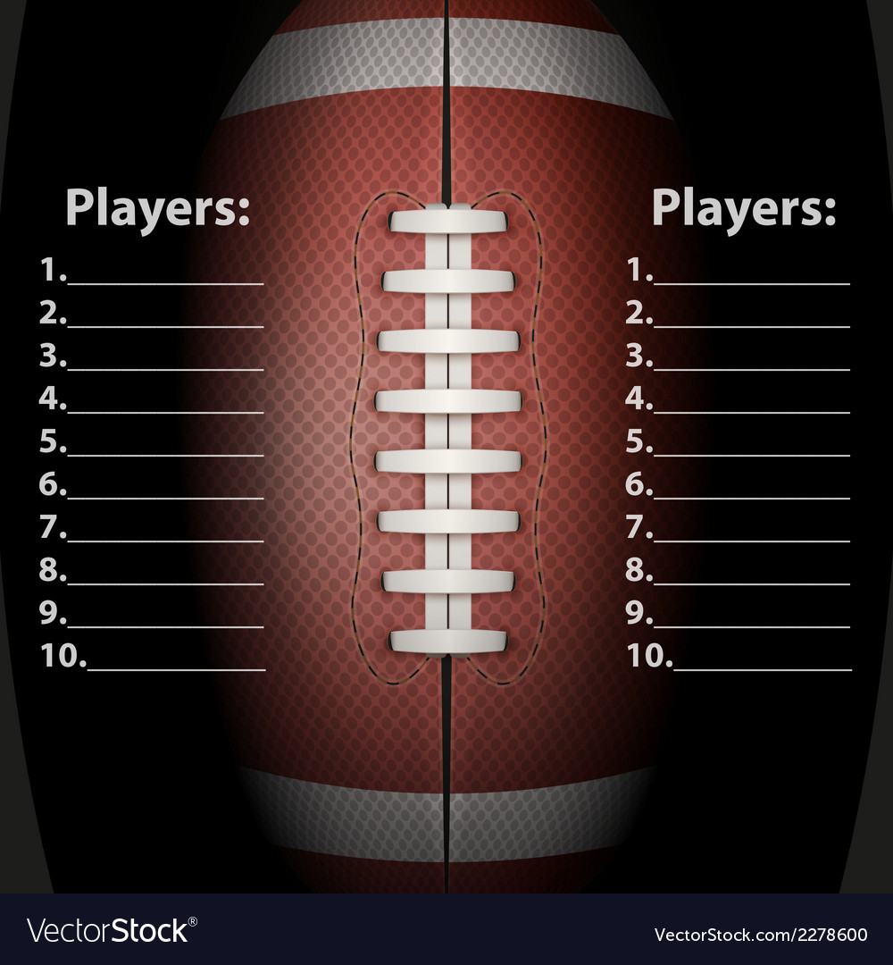 Dark background of american football ball vector | Price: 1 Credit (USD $1)