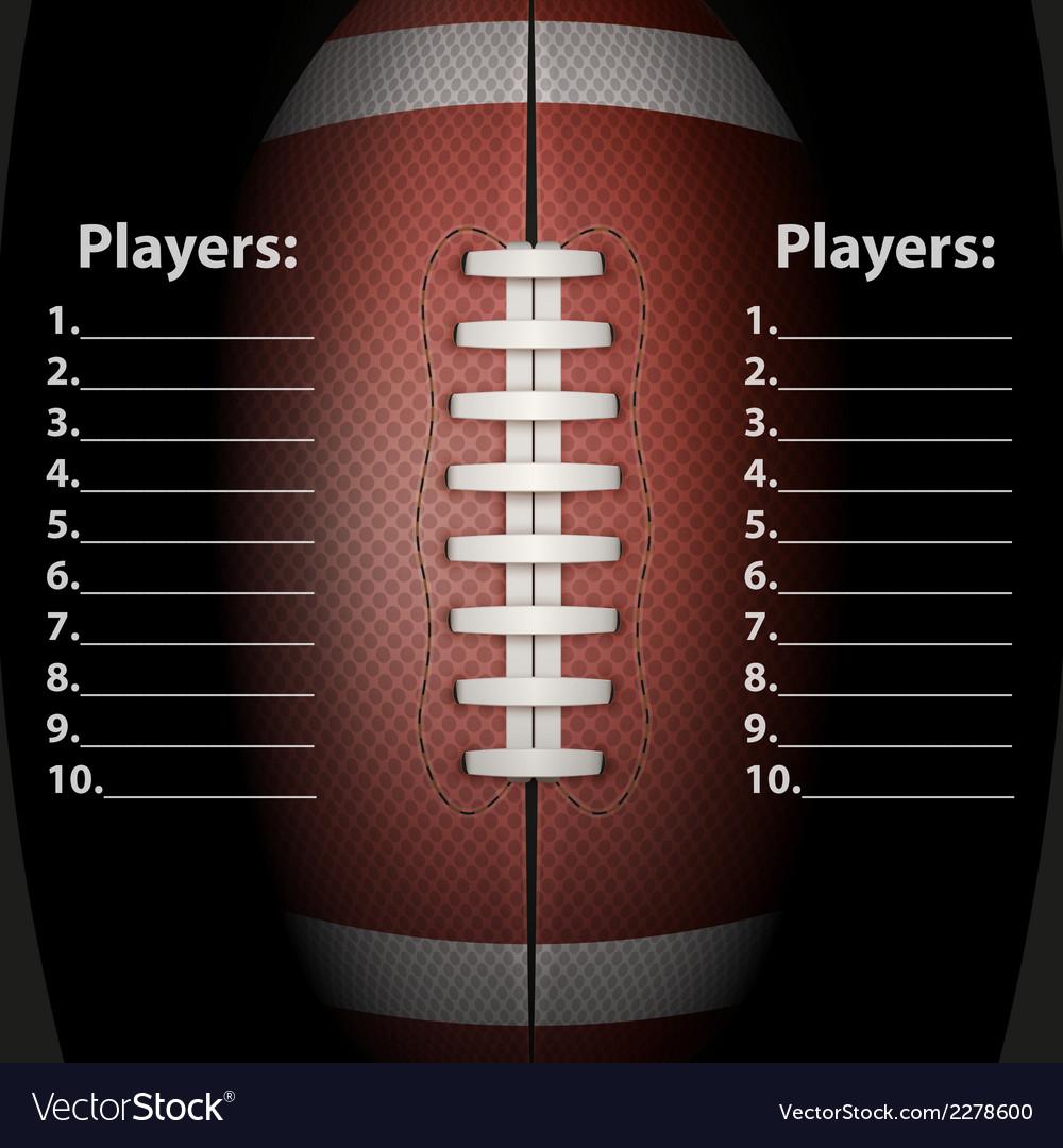 Dark background of american football ball vector | Price: 1 Credit (USD $1)