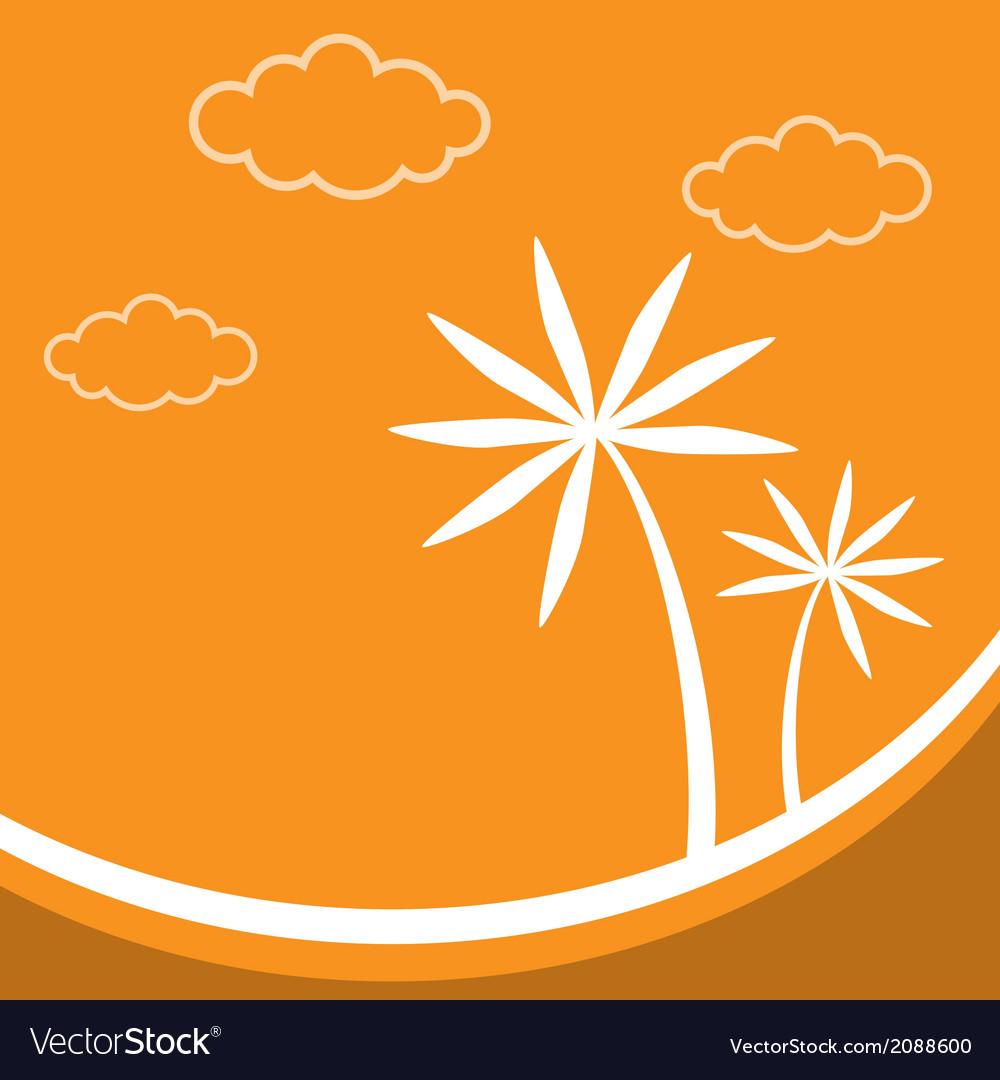Palm tree image vector | Price: 1 Credit (USD $1)