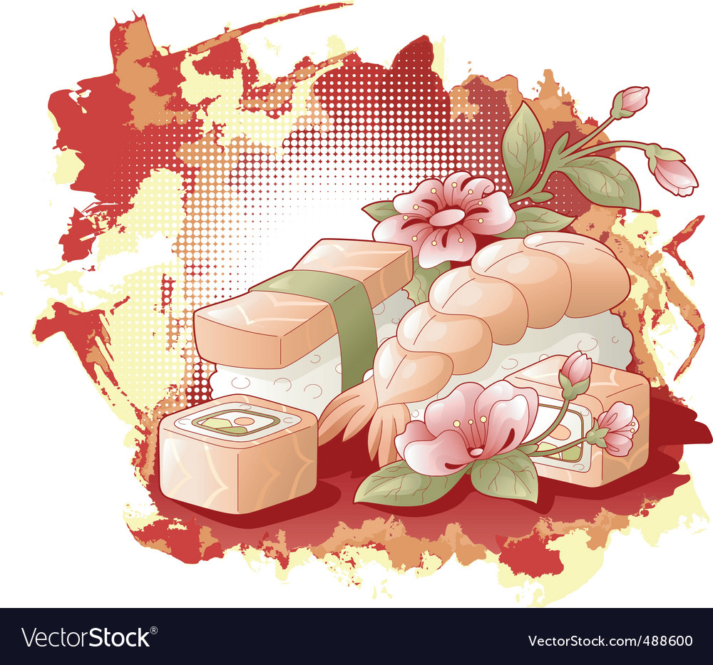 Sushi rolls vector | Price: 3 Credit (USD $3)