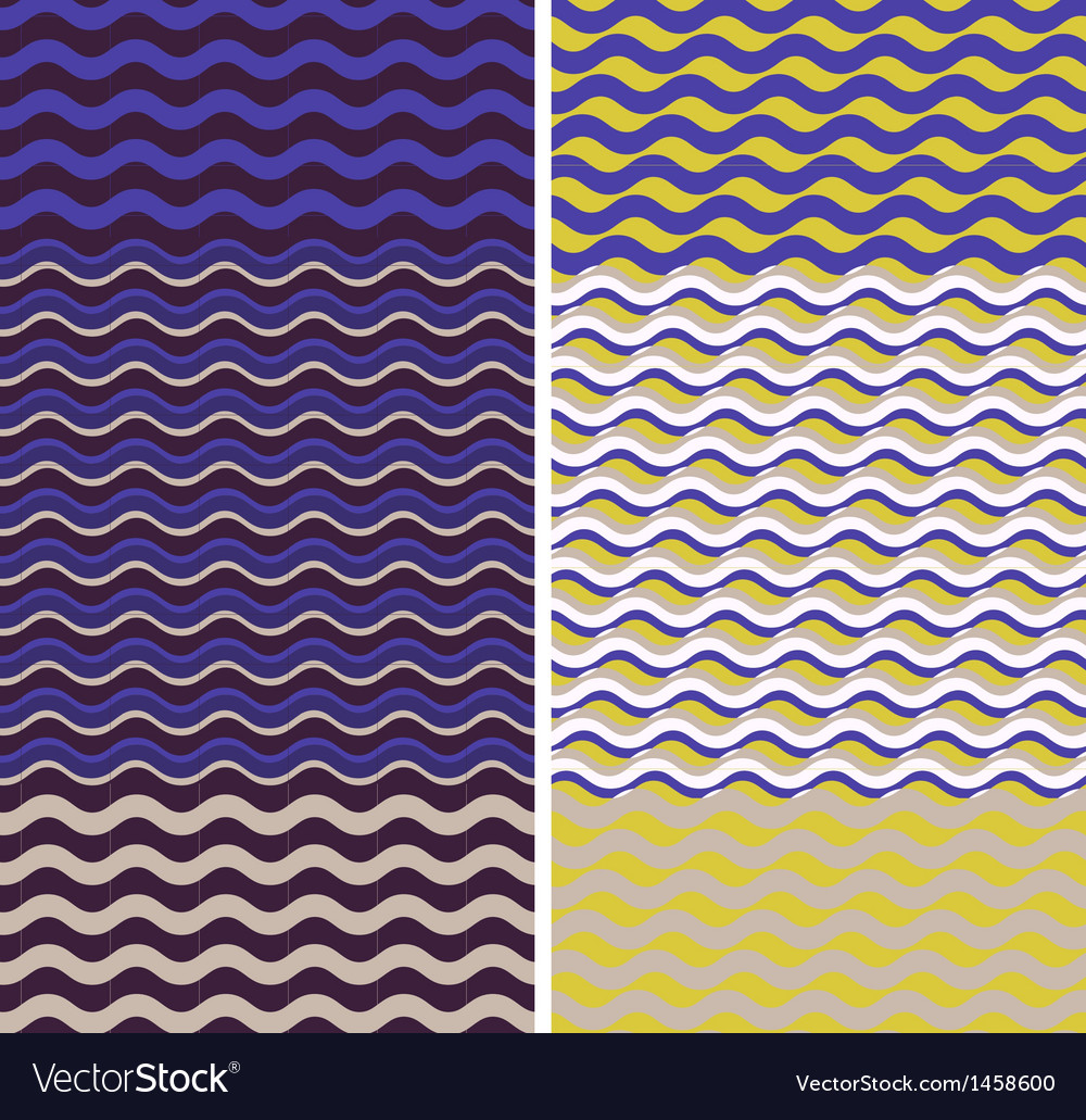 Waves - geometric seamless patterns vector | Price: 1 Credit (USD $1)